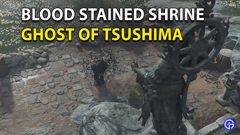 Ghost of Tsushima Blood Stained Shrine Puzzle Solution
