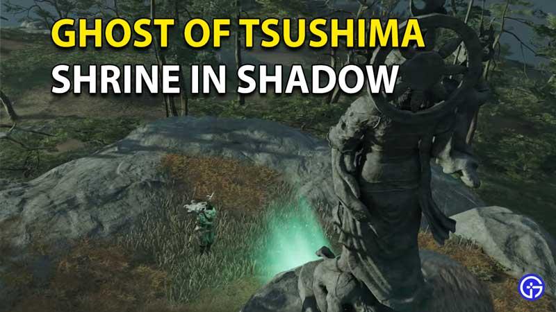 Ghost Of Tsushima Shrine In Shadow