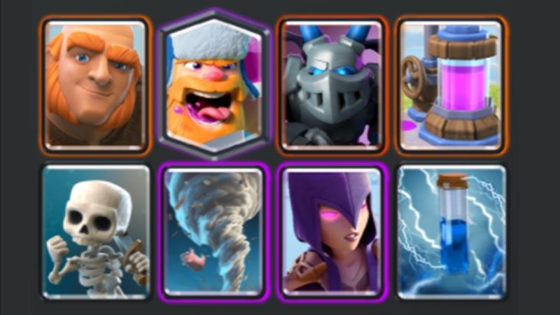 giant witch beatdown rage challenge decks clash royale