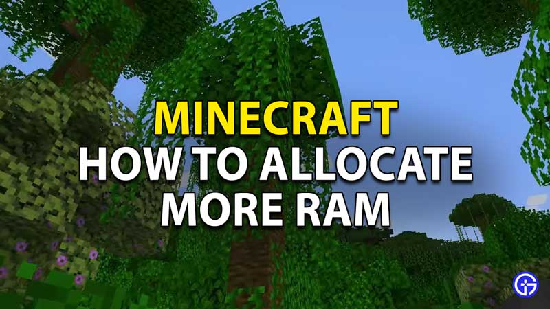 how to allocate more ram minecraft