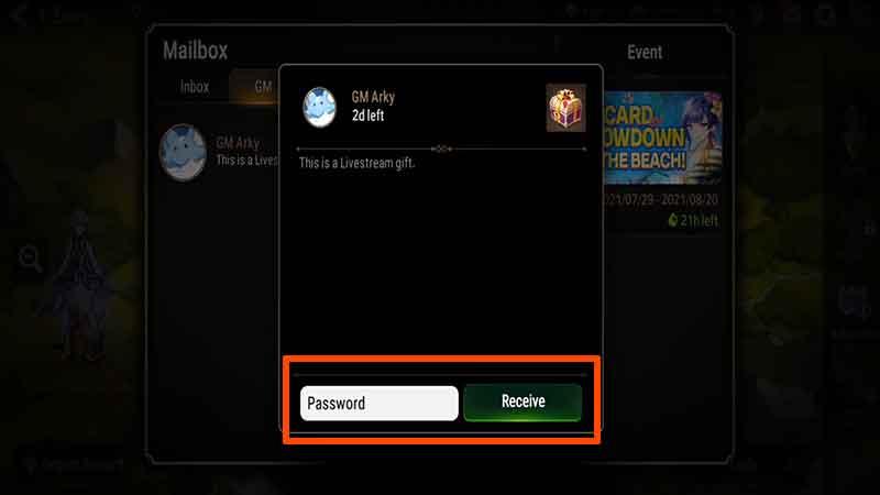 how to enter redeem epic seven livestream code