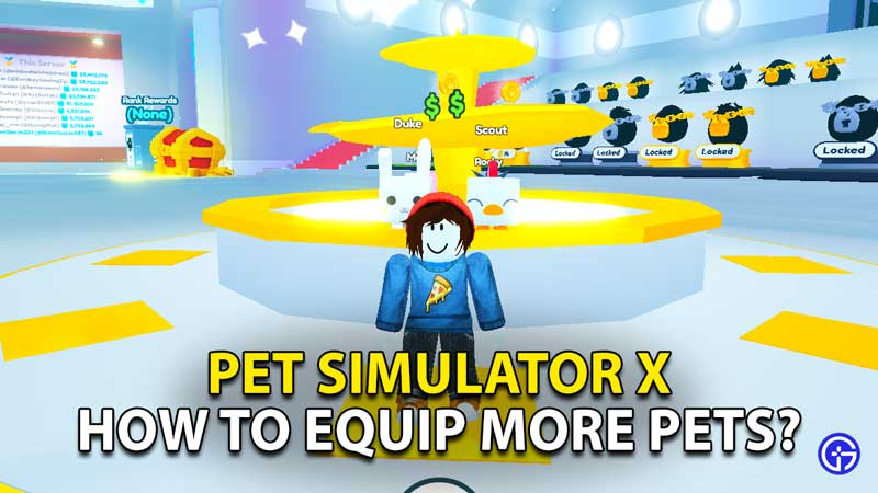 how to equip more pets in roblox pet simulator x