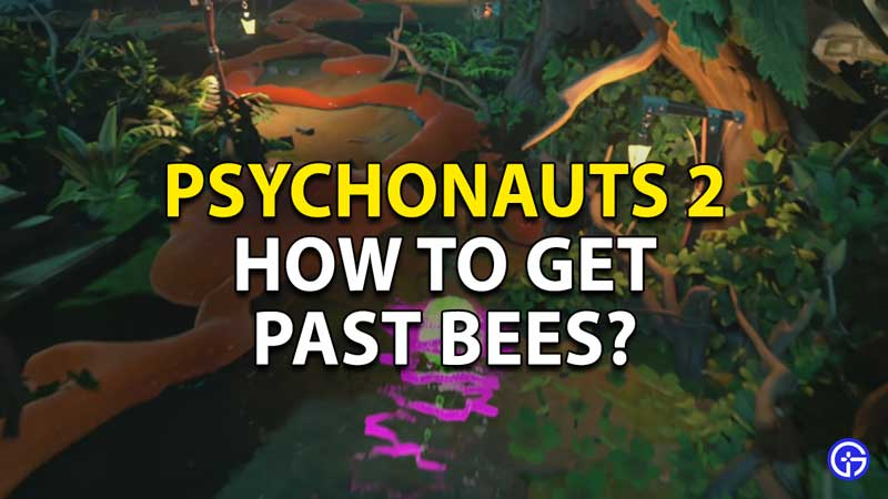 how to get past bees in psychonauts 2