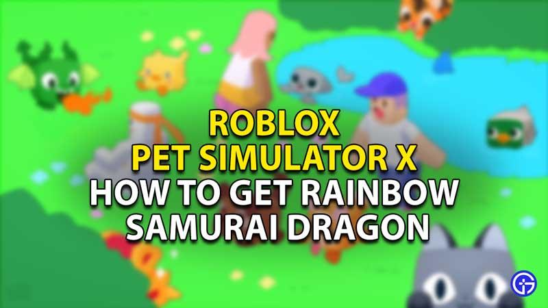 how to get rainbow samurai dragon pet simulator x
