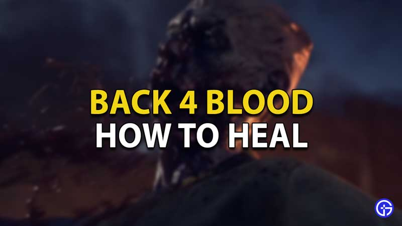 how to heal back 4 blood