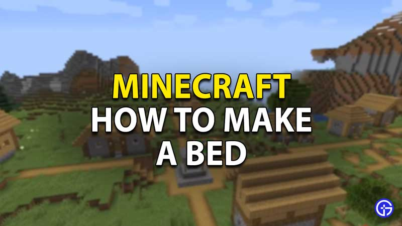 how to make a bed minecraft