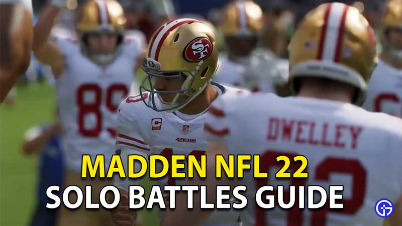 how to play solo battles in madden nfl 22