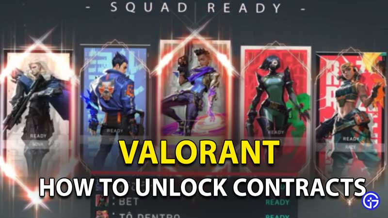 how to unlock contracts in valorant