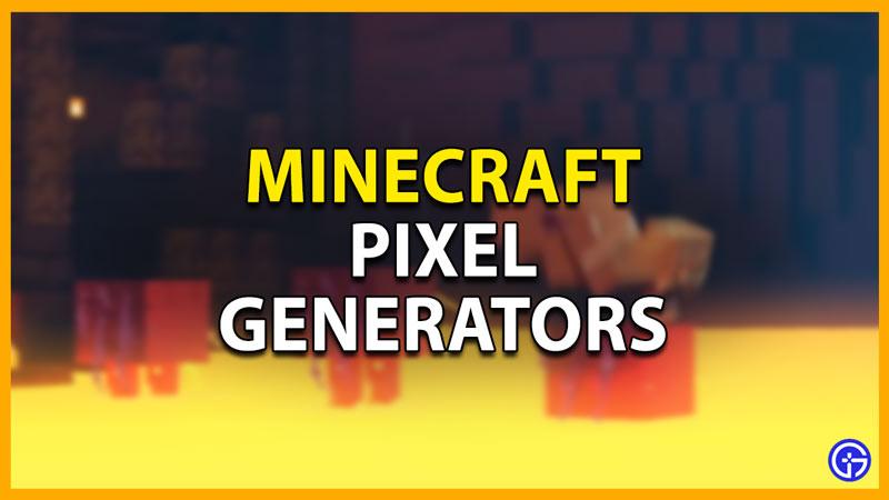 how to use minecraft pixel generator