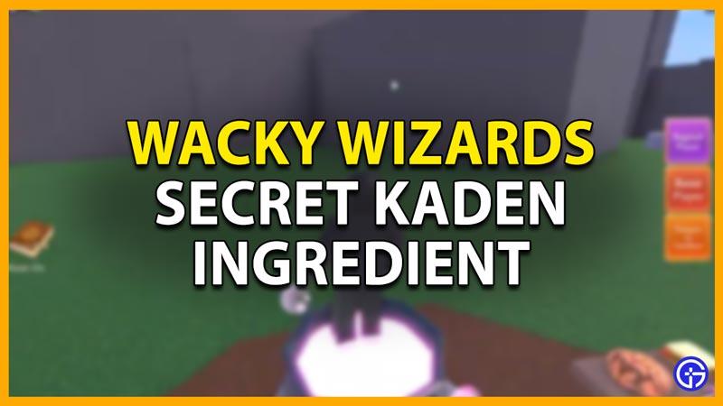 kaden ingredient roblox wacky wizard