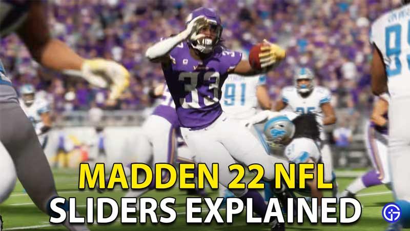 Madden 22 NFL Sliders
