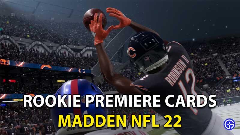 Madden 22 Rookie Premiere