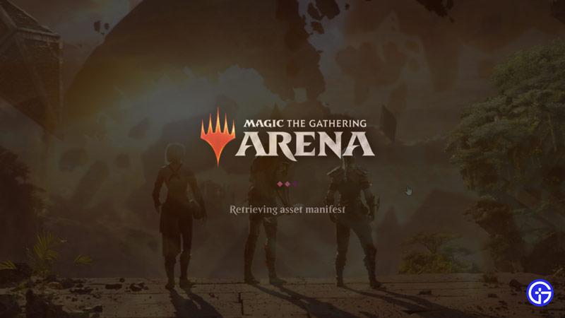 retrieving asset manifest mtg arena