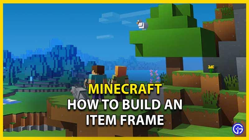 item frame minecraft recipe
