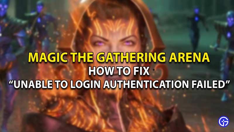 unable to login mtg arena fix