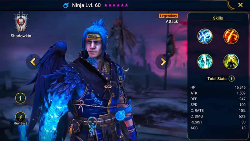 raid shadow legends ninja build