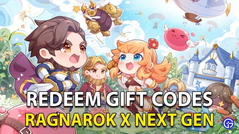 Ragnarok X Next Generation Gift Codes