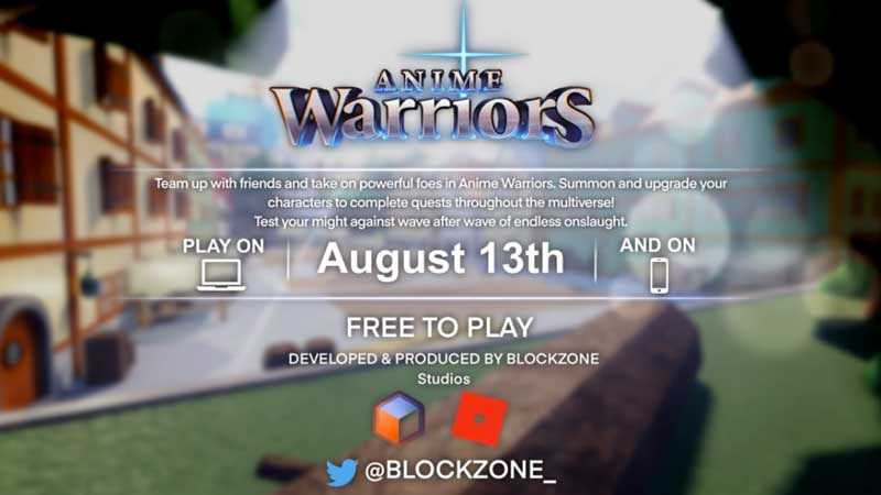 Roblox Anime Warriors Release Date