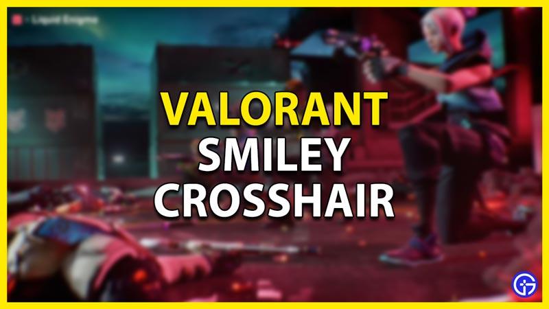 smiley crosshair valorant