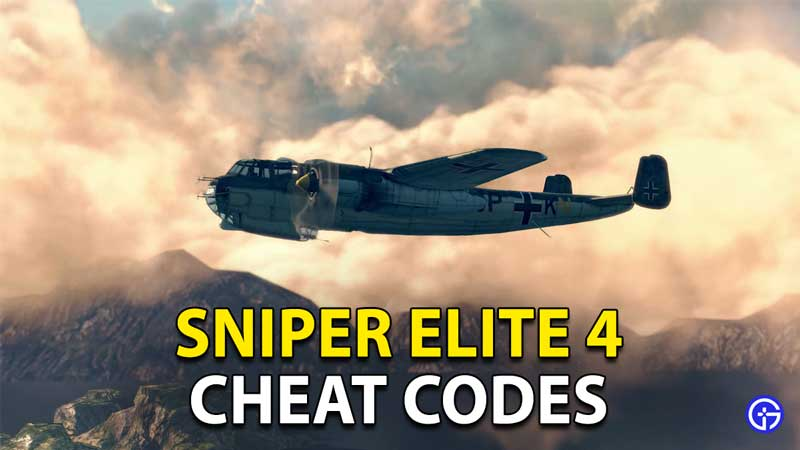 Sniper Elite 4 Cheat Codes