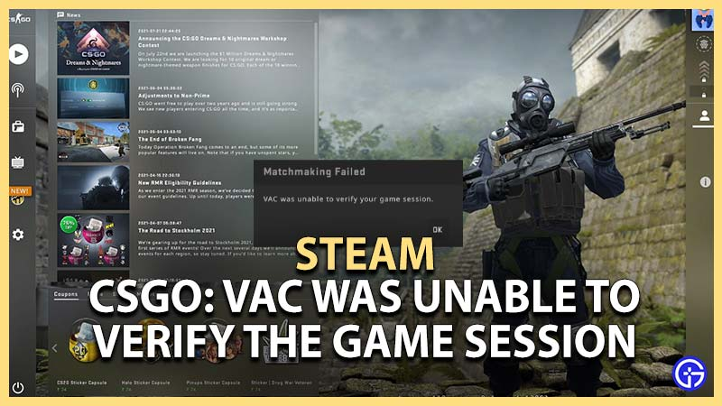 steam csgo vac was unable to verify the game session