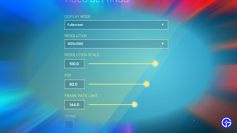 video-setting