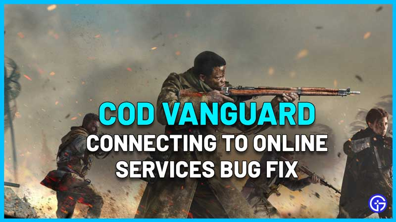 COD Vanguard Connecting To Online Services Bug Fix