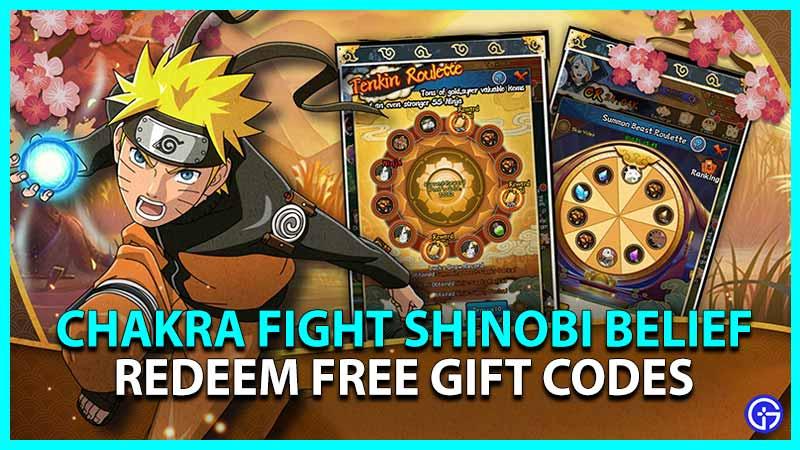 Chakra Fight Shinobi Belief Redeem Free Gift Codes