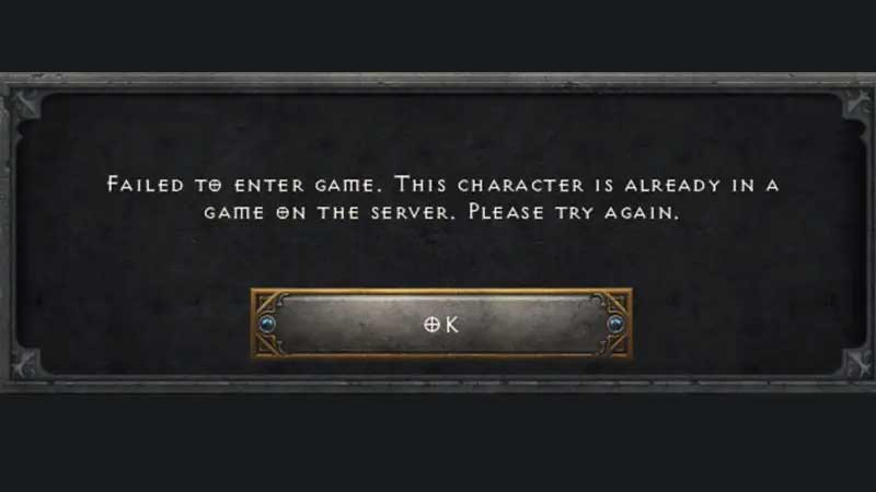 Diablo 2 Resurrected Failed To Enter Game Cannot Join Or Create Fix