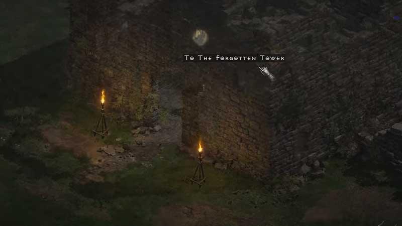 diablo 2 resurrected forgotten tower location to farm countess