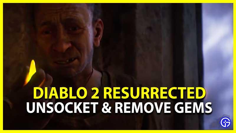 Diablo 2 Resurrected How to Unsocket Remove Gems Jewel Runes