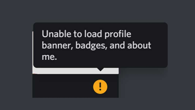Discord Unable To Load Profile Banner, Badges And About Me Fix