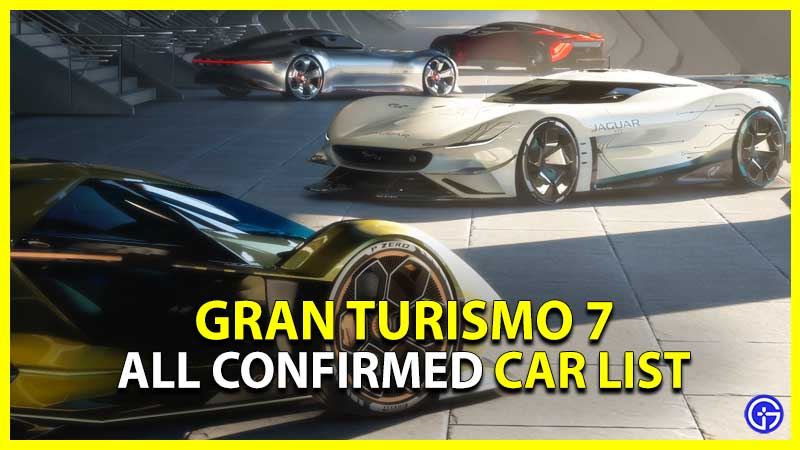Gran Turismo 7 Car List