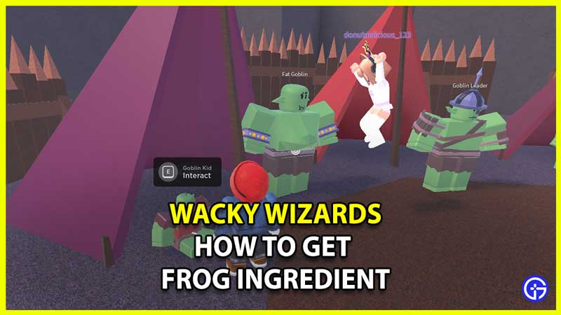 How To Get The Frog In Wacky Wizards
