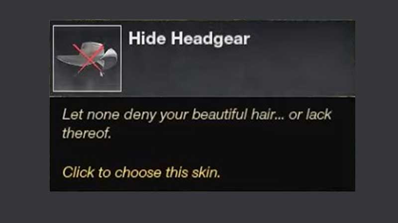 how to hide helmet headgear in new world