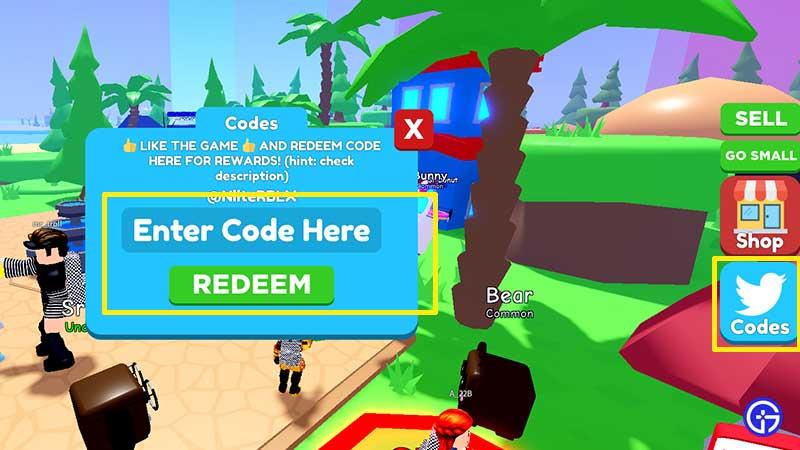 how to enter redeem Grow Up Simulator Codes