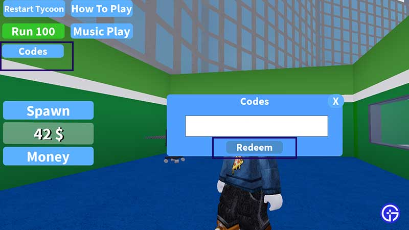 how to enter and redeem codes in PC Store Simulator