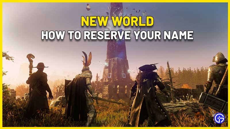 how to reserve name in new world