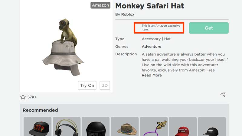 How To Get Monkey Safari Hat On Roblox without amazon account tablet