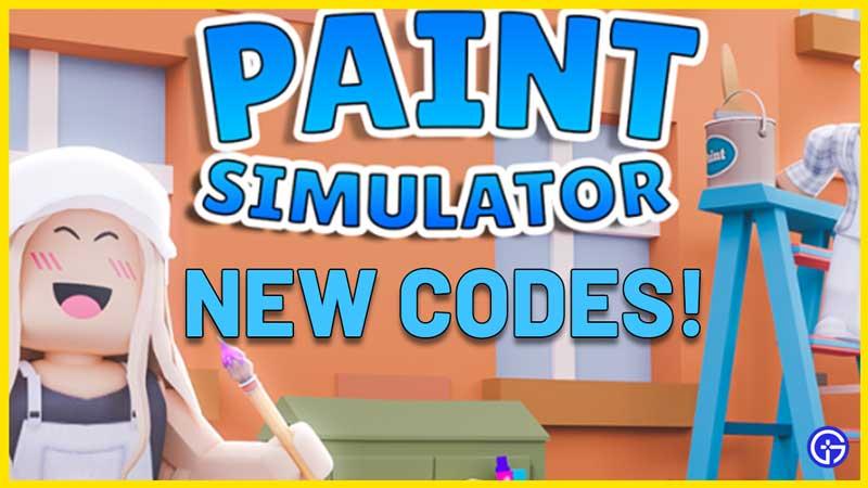 Paint Simulator Codes