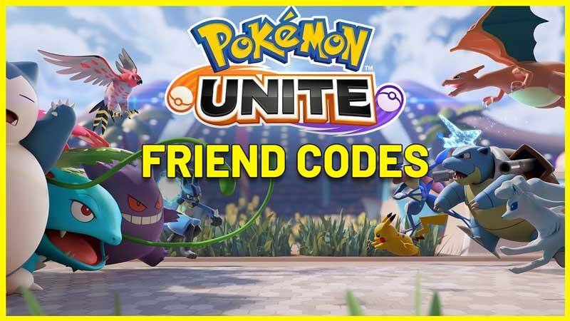 Pokemon Unite Friend Codes