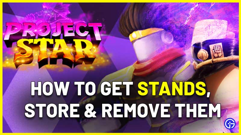 Project Star how to get a stand and store it