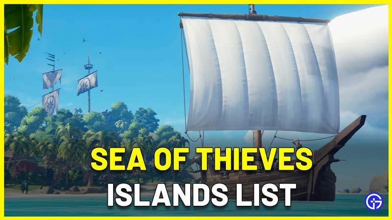 Sea Of Thieves Islands List Coordinates map