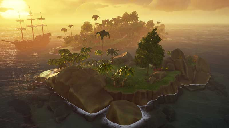 sea of thieves islands locations on map