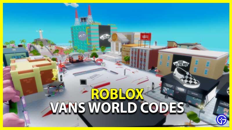 Vans World Codes