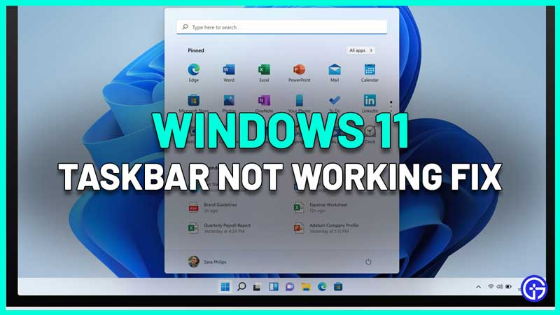 Windows 11 Taskbar Not Working Fix