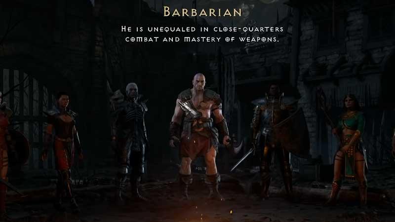 barbarian  diablo 2 resurrected class
