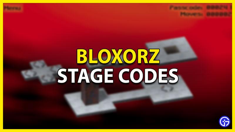 bloxorz codes