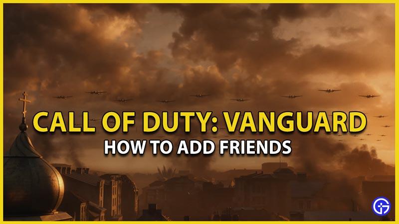 cod vanguard add friends multiplayer
