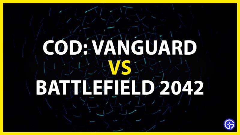cod vanguard vs battlefield 2042